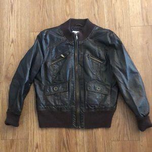 Xhilaration Dark Brown Bomber Moto Jacket